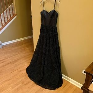 Adrianna Papell Boutique strapless black dress